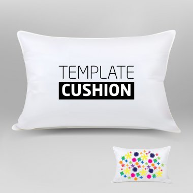 Vector realistic blank white cushion