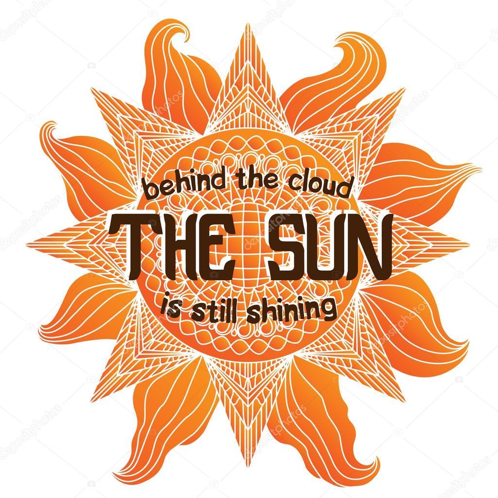 Colorful summer sun illustration on white background