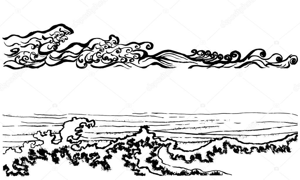 Japanese style waves.
