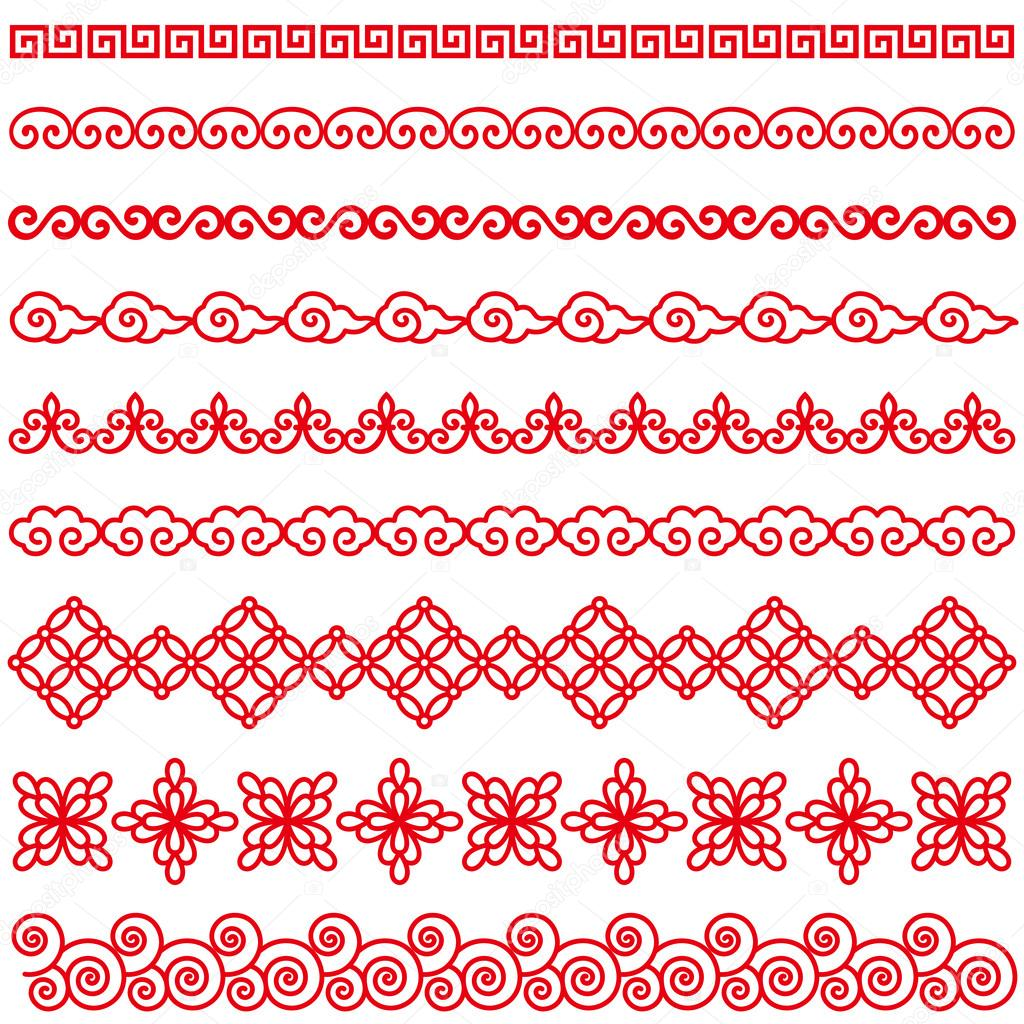set of chinese style borders stock vector  u00a9 lalan33 christmas lights victoria naples christmas lights vector free