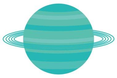 Uranus. planet of the solar system.