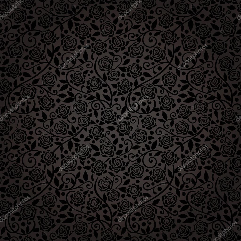 Carta da parati perfetta eleganza con rose nere for Stock carta da parati