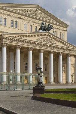 The Bolshoi Theatre of Opera and Ballet in Moscow, Russia.
