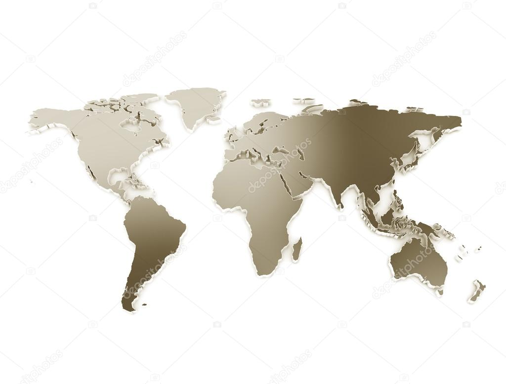 3d world map stock photo jezper 121902032 3d world map metal texture isolated on white photo by jezper gumiabroncs Choice Image