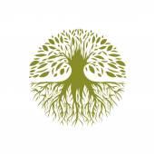 Fotografie abstrakte runde Baum-Logo