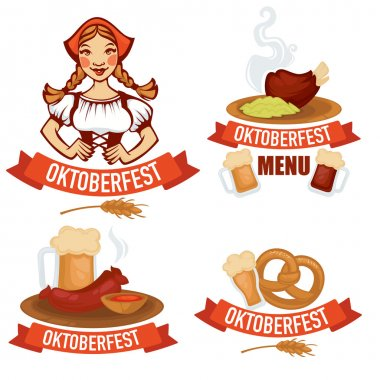 vector collection of oktoberfest emblems logo and stickers in ca