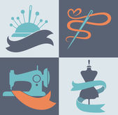 be a tailor, hand made fashion, vector collection of symbols and