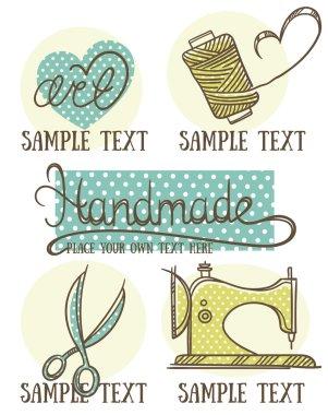 design, craft and handmade logo, symbol and emblems in doodle st