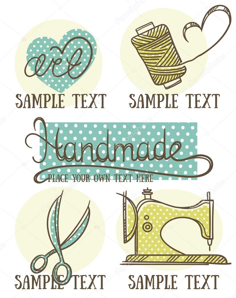 Design Craft And Handmade Logo Symbol And Emblems In Doodle St