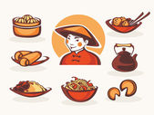 Fotografie vector collection of chinese food symbol