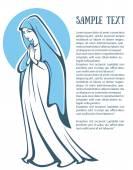 Fotografie Vektor-Illustration von Jungfrau Maria zu beten