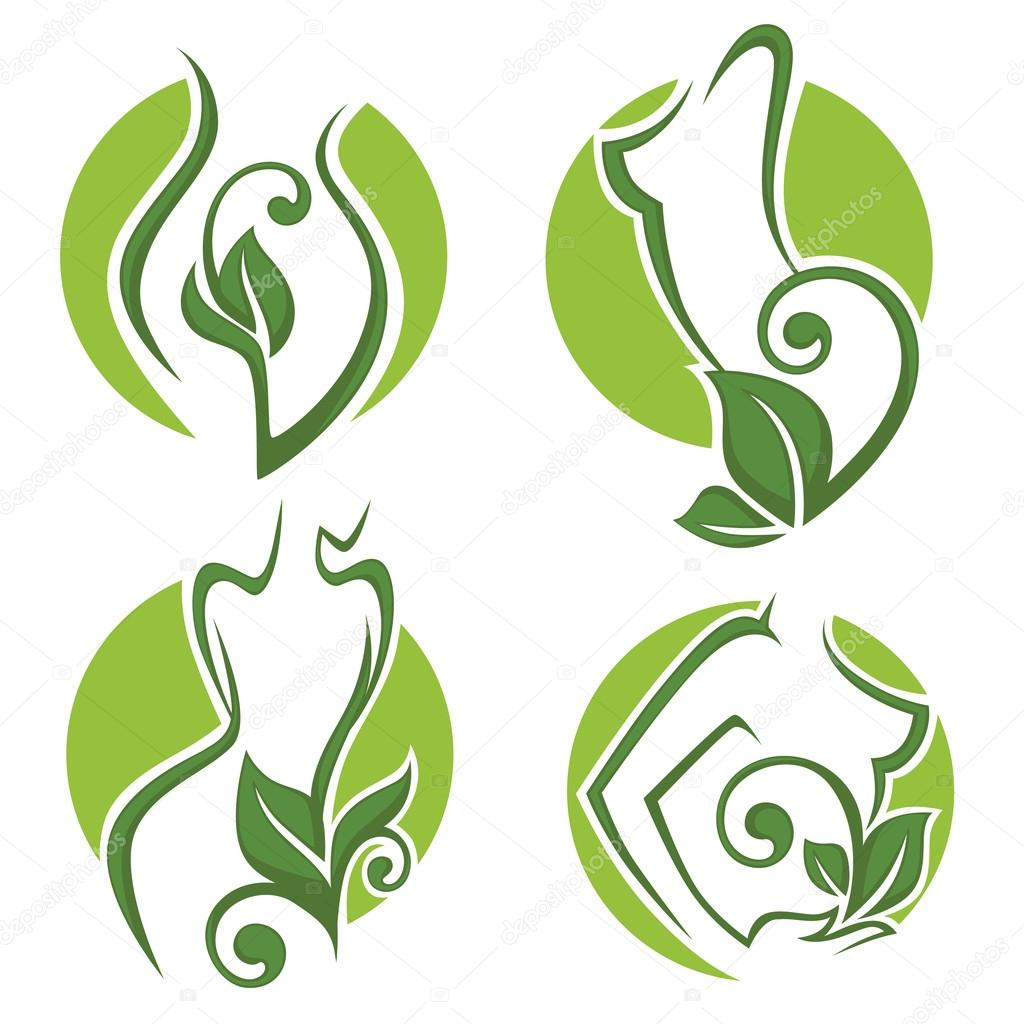 women health, beauty and treatment symbols, logo, emblems and ic