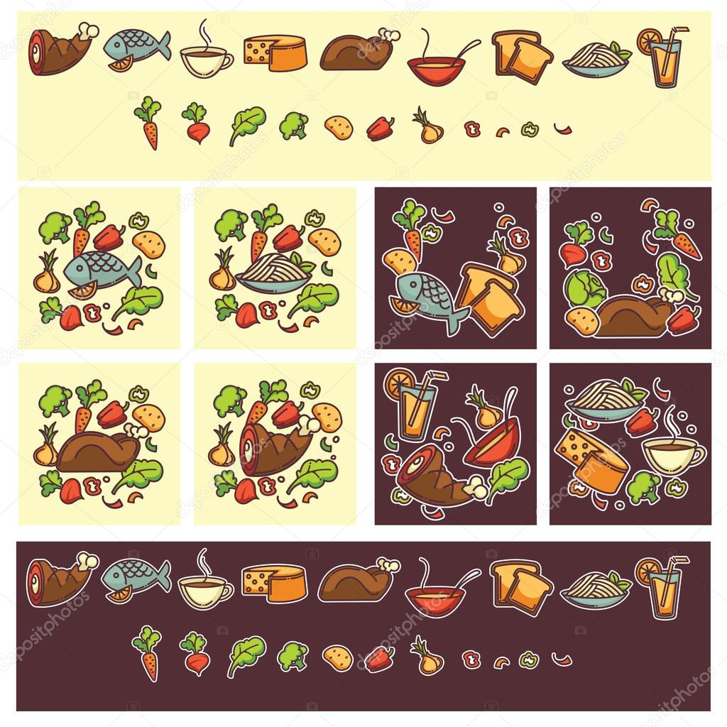Common food and everyday meal, Great templates and objects for h