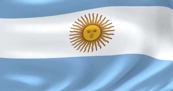 Flags of the world - flag of Argentina. Waved highly detailed flag animation.