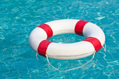 Pool ring  float in swimming pool
