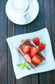 Fotografie čokoládový dort na desce