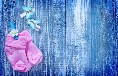 Baby socks stock vector