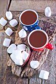 Cocoa drink and marshmallows