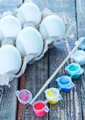Fotografie Bílé vejce a malování