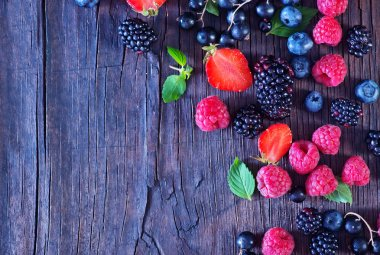mixed Berries on table