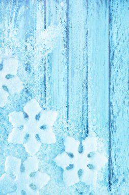 Snowflakes and snow background