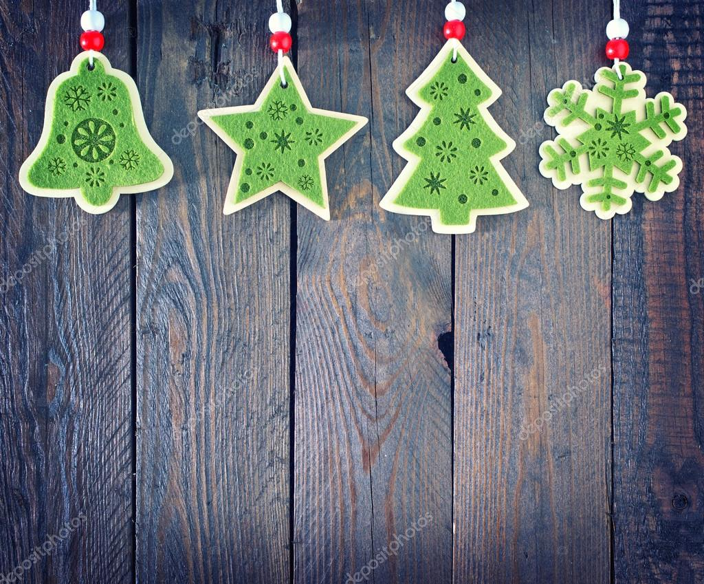 Decorazioni In Legno Per Albero Di Natale : Decorazione per albero di natale u foto stock tycoon