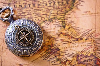 Vintage pocket compass