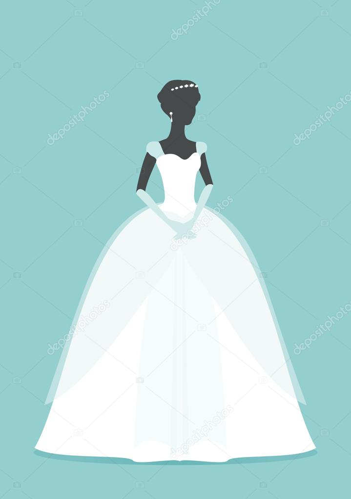 vector: sombra de mujer dibujo | hermosa novia. silueta princesa con