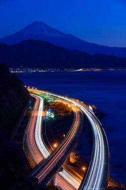 Landscape of the Satta pass at dawn in Shizuoka, Japan