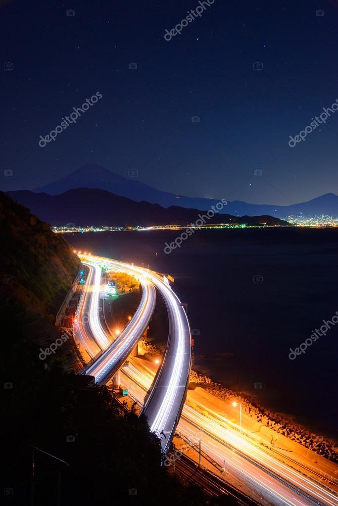 Landscape of the Satta pass at dawn in Shizuoka, Japan