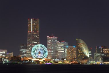 Skyscraper at Minatomirai, Yokohama at night