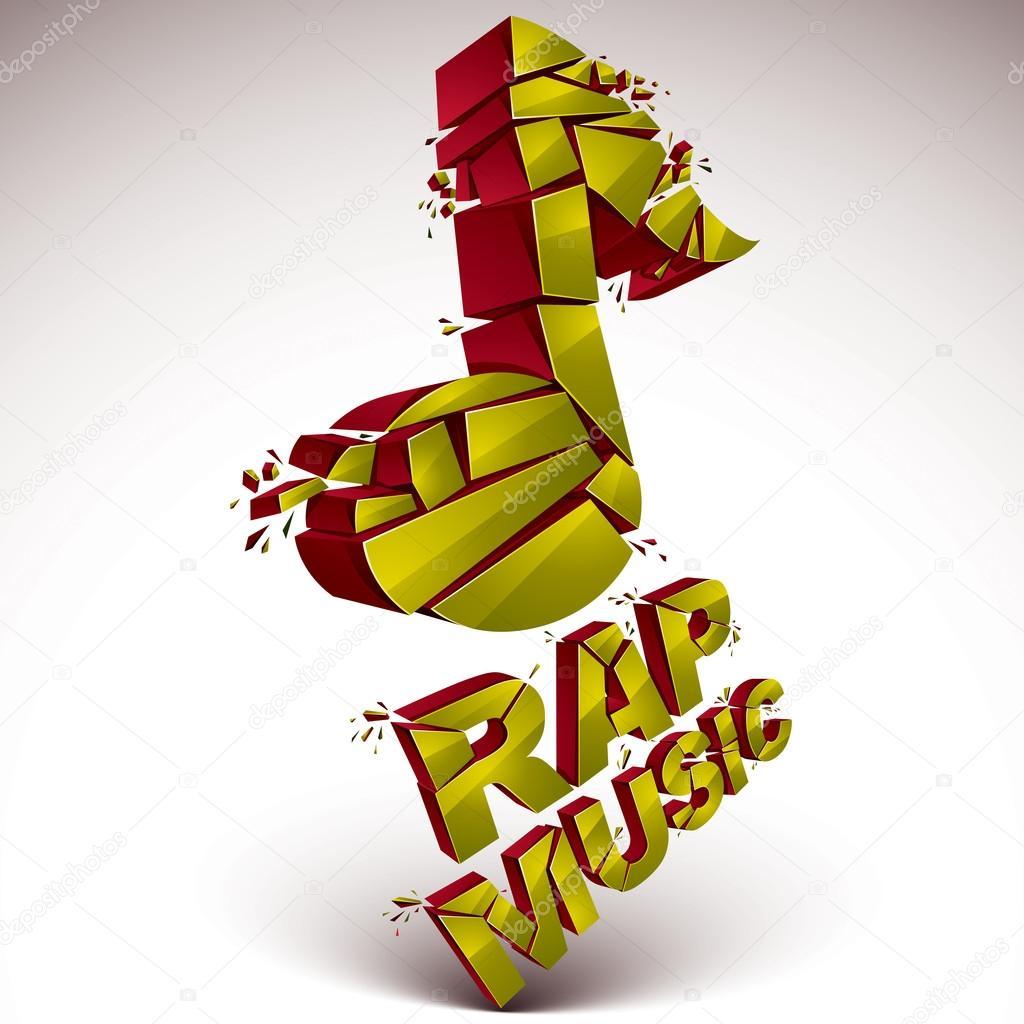 Rap music theme — Stock Vector © Ostapius #102719314