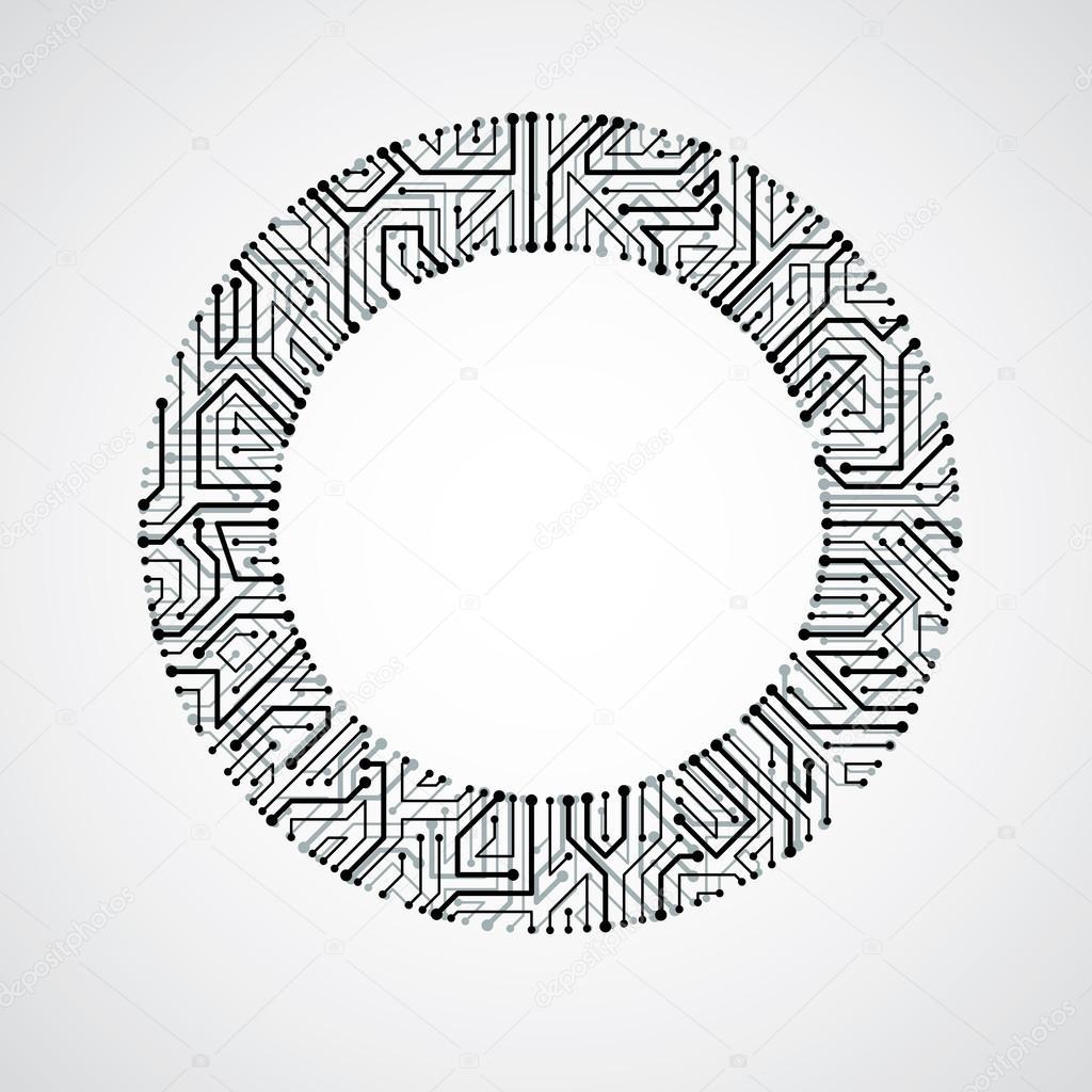 Circuit Board Vector Circle Diagram Symbols Stock Ostapius 106040980 Rh Depositphotos Com Alien
