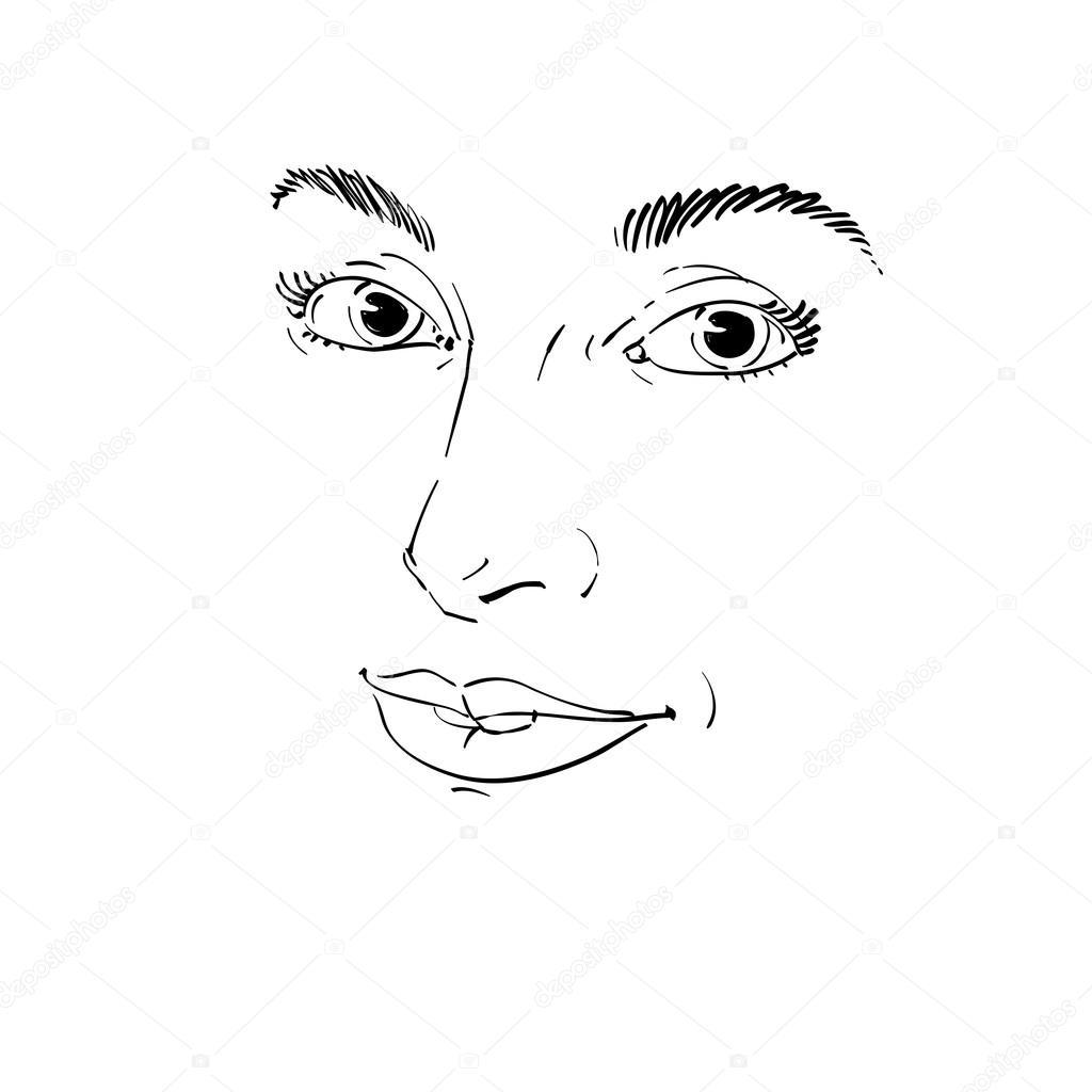 Portrait De Fille Magnifique Image Vectorielle Ostapius