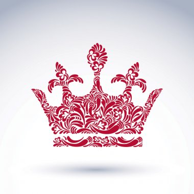 flower-patterned  king crown