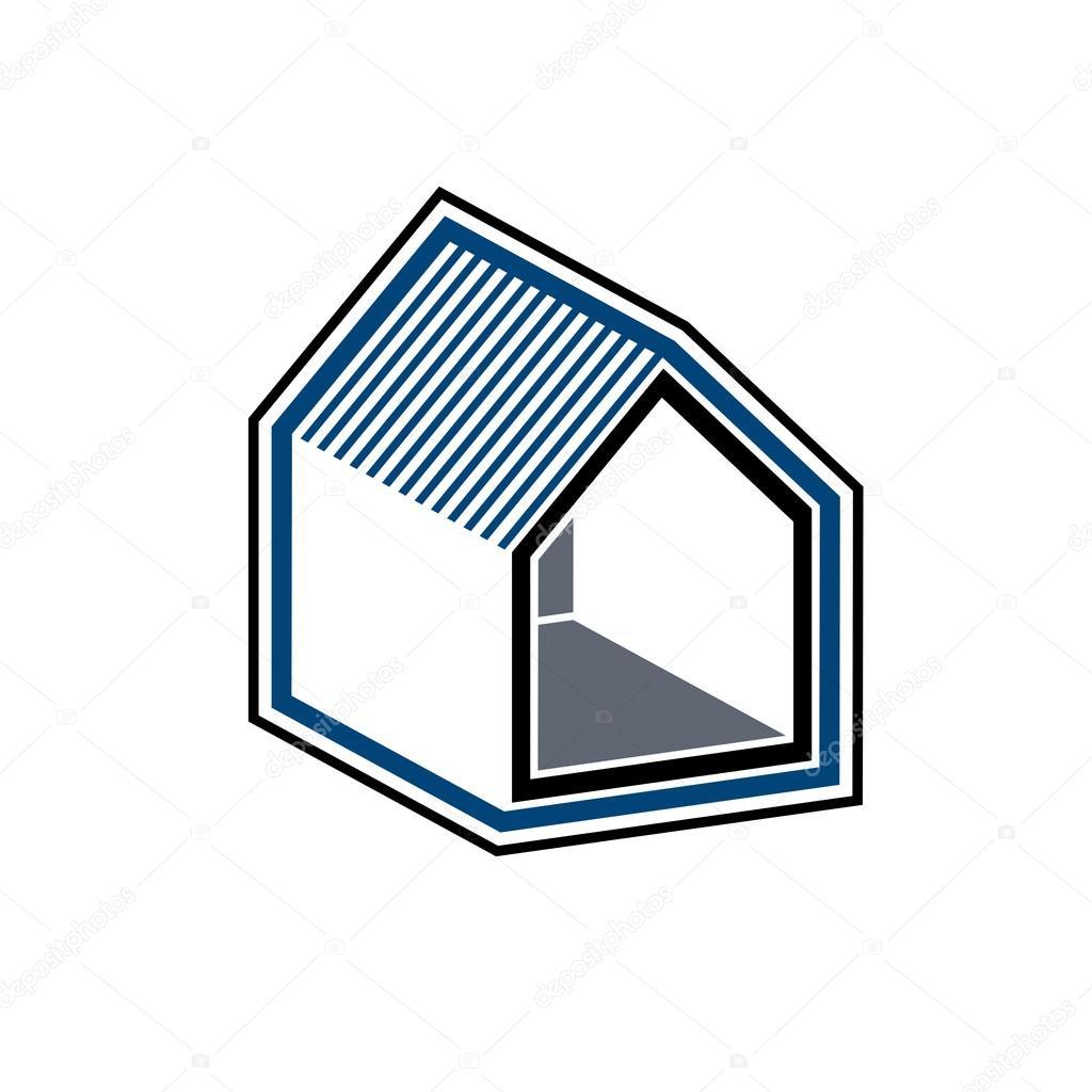 Conceptual business house icon — Stock Vector © Ostapius #115055266