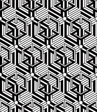 geometric seamless 3d pattern.