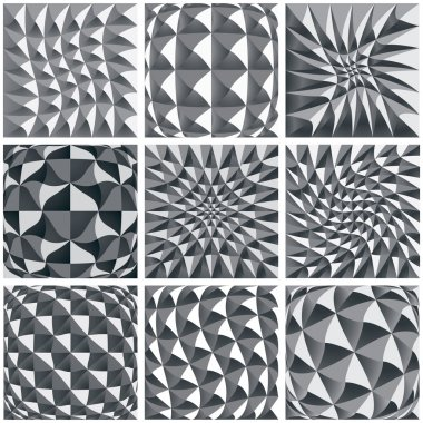 Abstract black and white background, geometric figures.