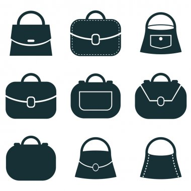 Bag vector icons set, symbols collection.