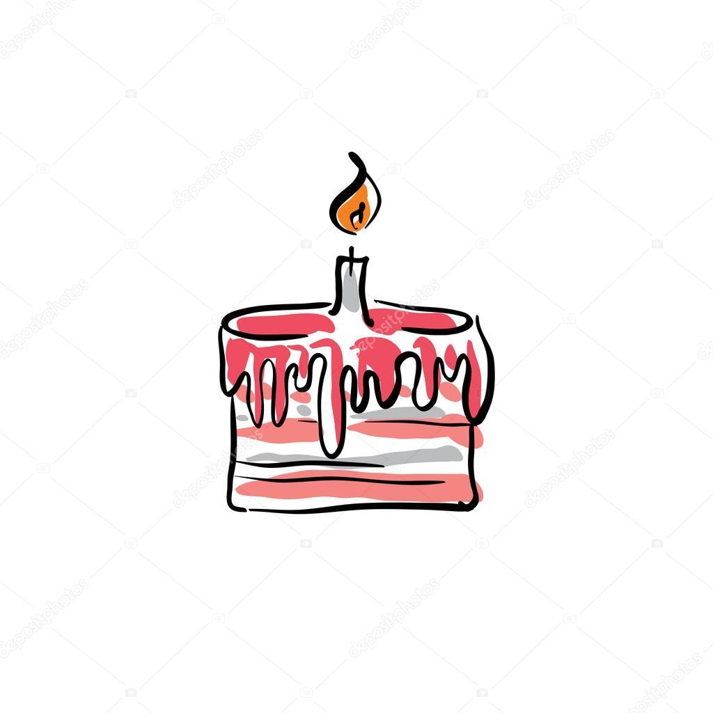Torta Compleanno Stilizzata.Vettoriali Stock Torta Stilizzata Illustrazioni Torta Stilizzata Royalty Free Depositphotos