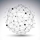 3D mřížky moderní sítě abstraktní obrázek izolovaných na bílém backgro
