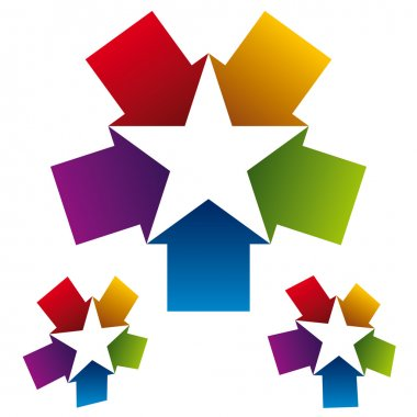 Star icon created with five arrows.