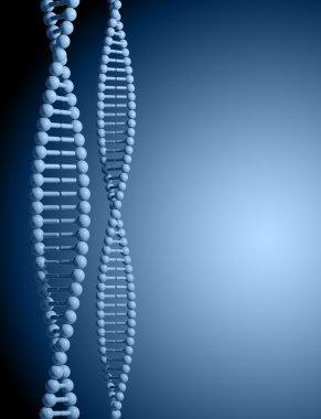 DNA, 3d background.