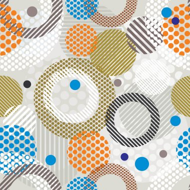 Abstract retro style seamless pattern.
