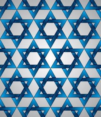 Star of David seamless pattern.