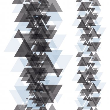 Seamless vertical elements made with triangles.