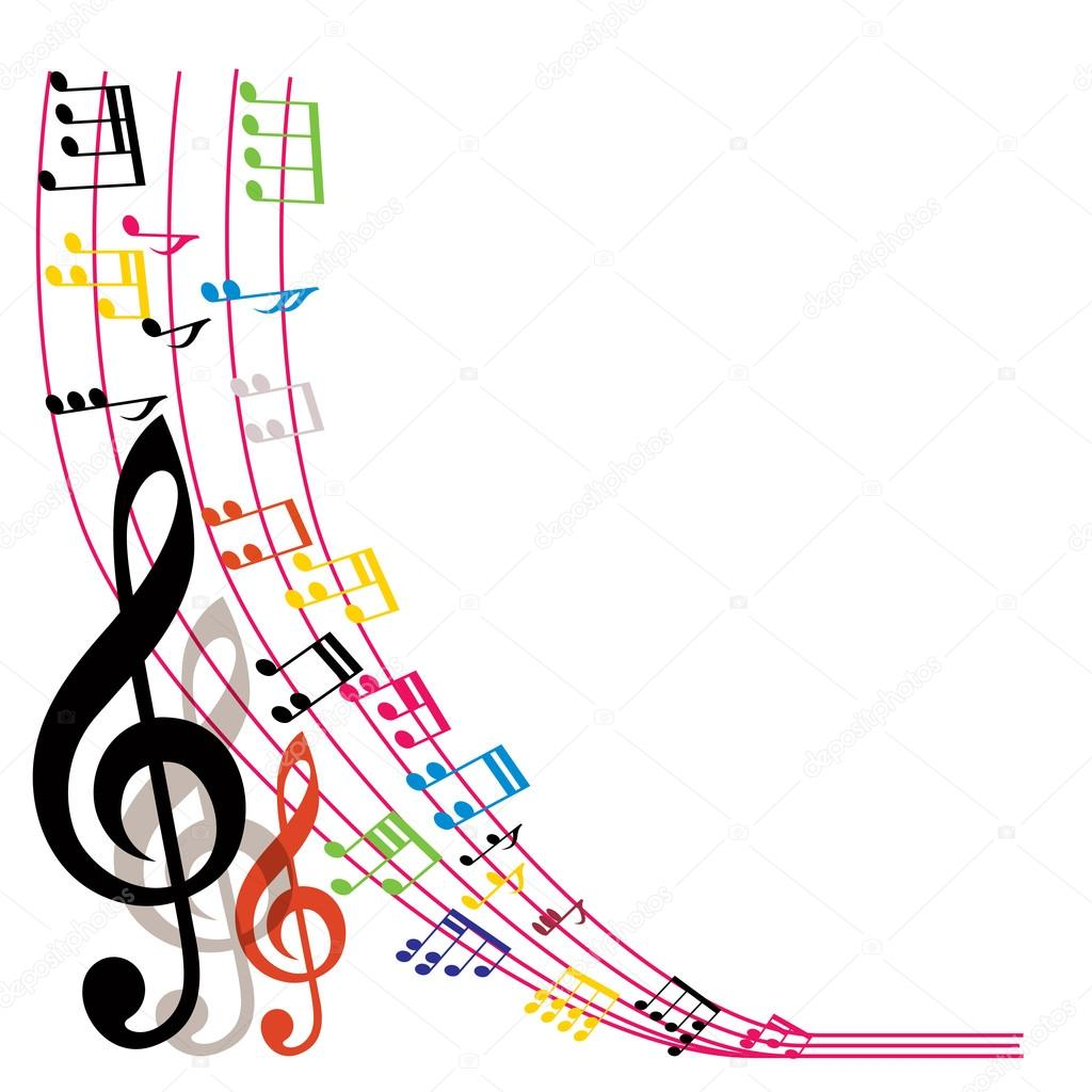 music notes background  stylish musical theme composition