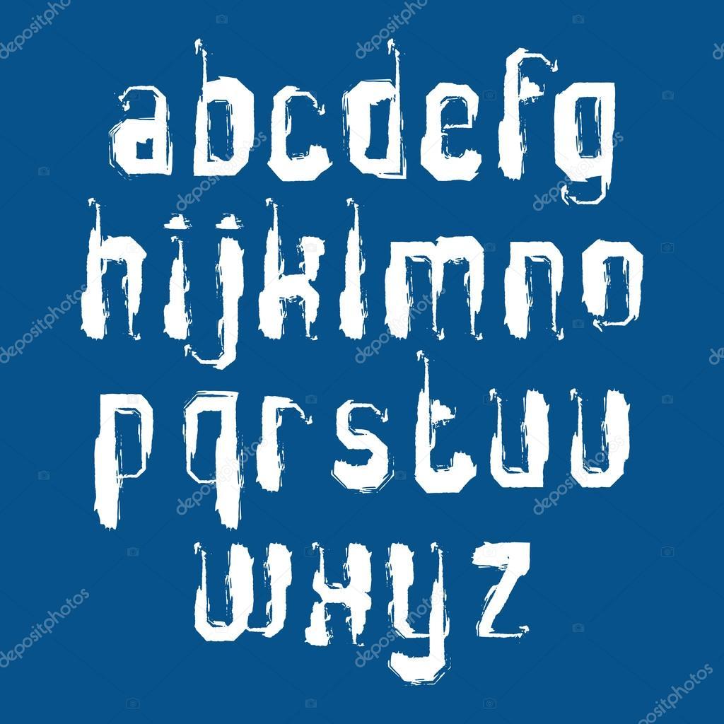 El yazısı grafiti harfler izole mavi b vektör stok illüstrasyon