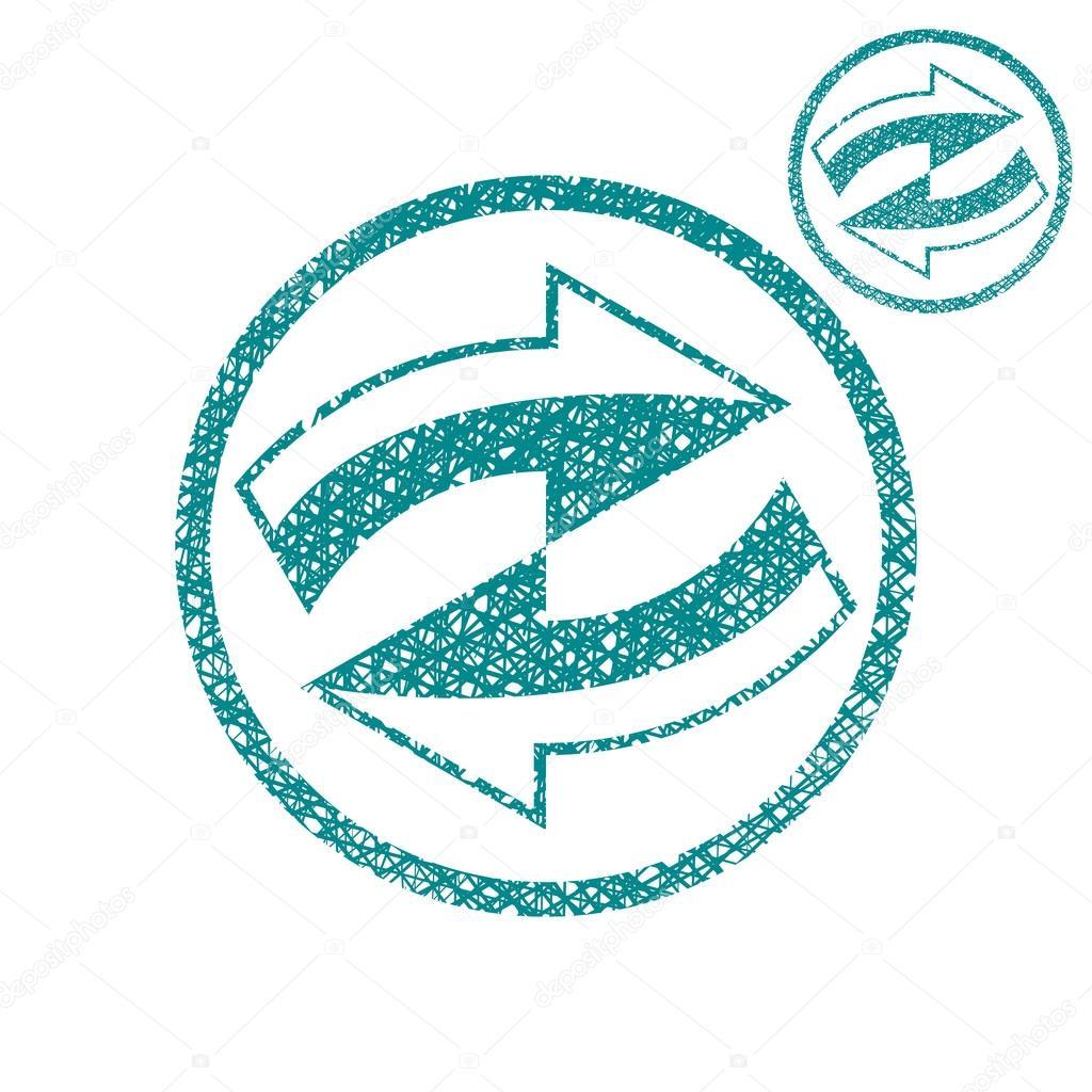 Loop arrows conceptual symbol vector simple single color icon is ...