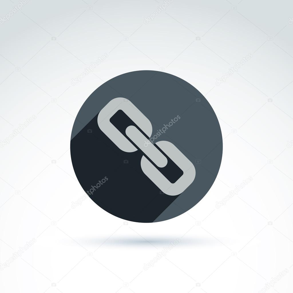 Vektor Verknüpfung Symbol, Symbol für Verbindung. Zusammenführen von ...